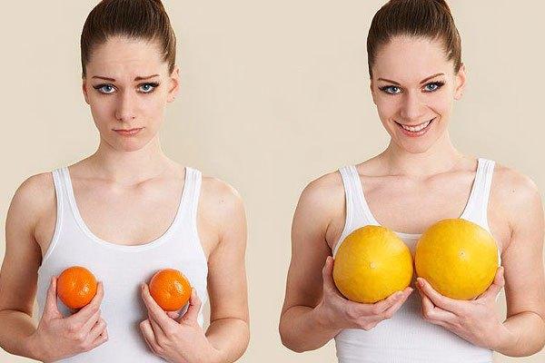 При частых занятиях сексом увеличивается грудь